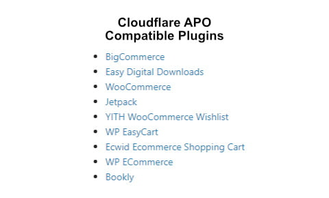 cloudflare apo compatible plugins