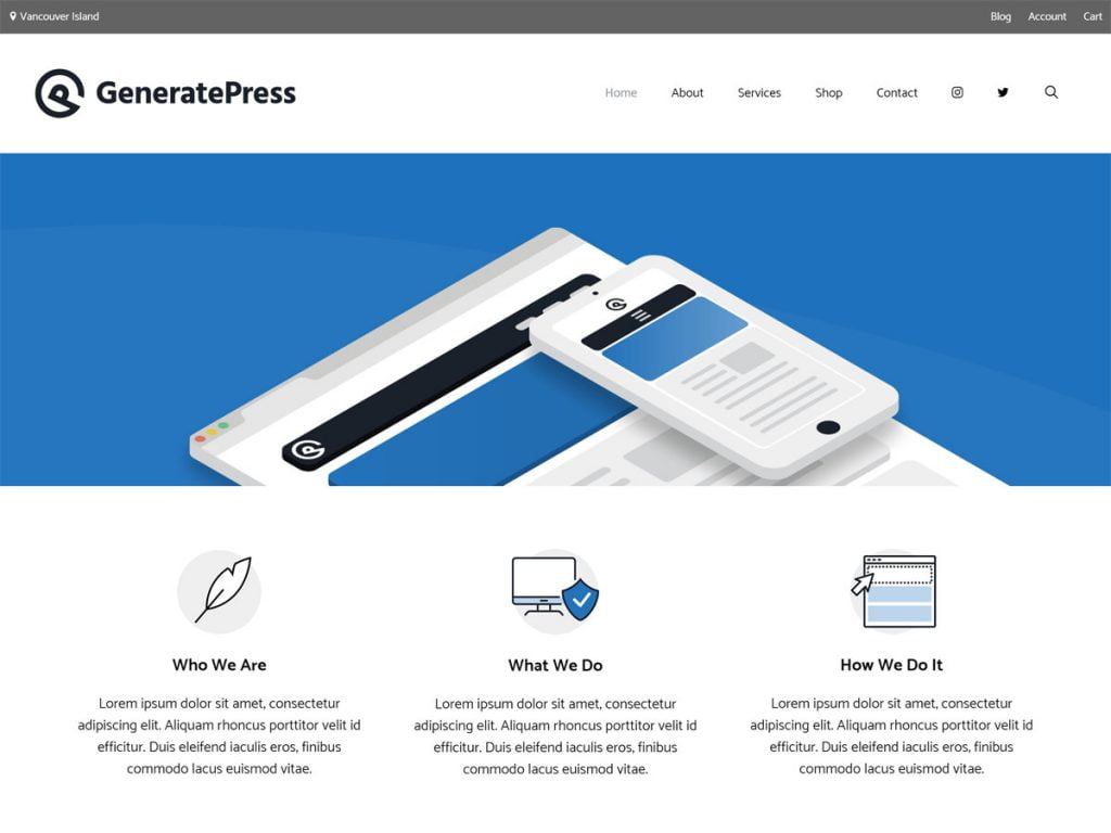 generatepress banner