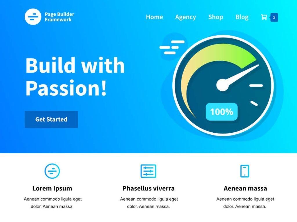page builder framework banner