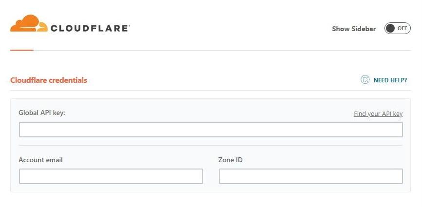 wp rocket cloudflare credentials